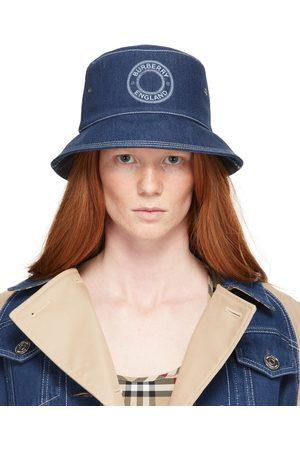 Burberry Chapeau bleu en denim à logo circulaire