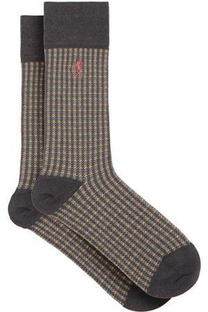 London Sock Company Chaussettes en coton à carreaux Shaken and Stirred