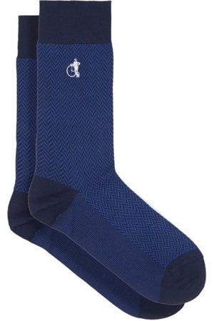 London Sock Company Chaussettes en coton mélangé Bond St.