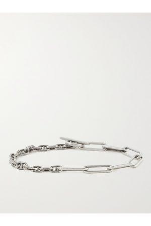 M.COHEN Duo Linka Burnished Sterling Chain Bracelet