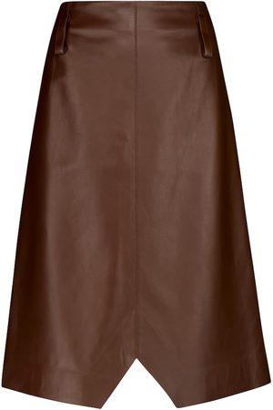 Dorothee Schumacher Jupe Exciting Softness en cuir