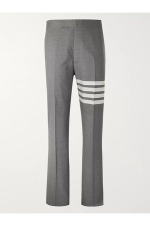 Thom Browne Homme Pantalons classiques - Slim-Fit Tapered Striped Wool Suit Trousers