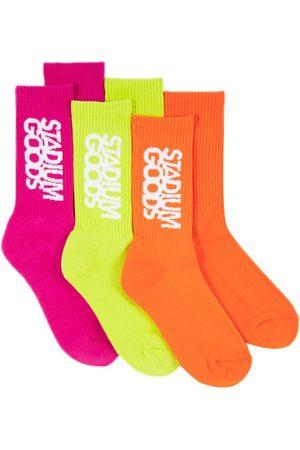 Stadium Goods Lots de trois paires de chaussettes Highlighter