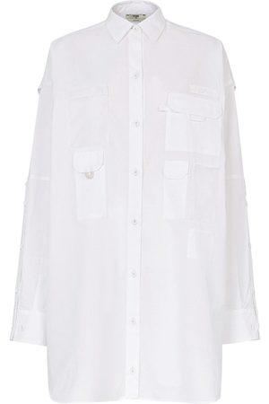 Fendi Robe-chemise à logo