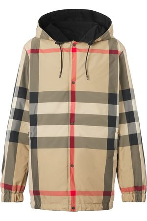 Burberry Reversible check recycled polyester hooded jacket