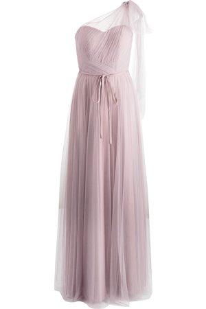 Marchesa Notte Bridesmaids Robe longue à design à une épaule
