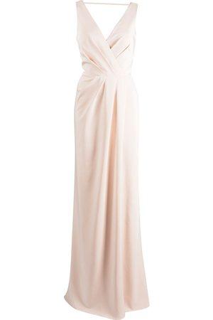 Marchesa Notte Femme Robes longues - Robe longue à col bénitier au dos