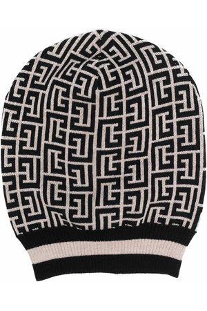 Balmain MONOGRAM MERINO KNITTED HAT