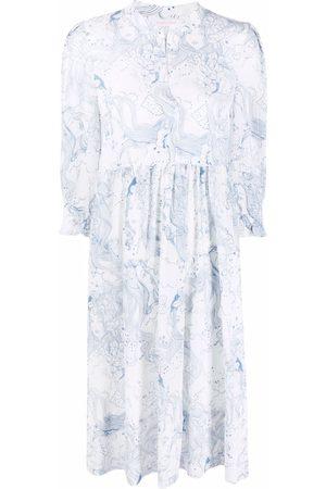 See by Chloé Illustration-print shirt dress