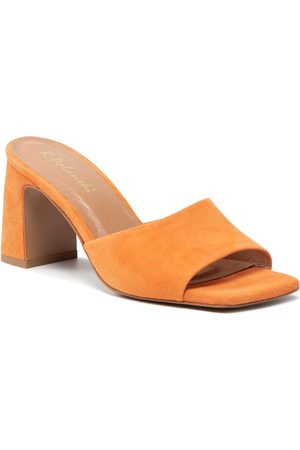 R. Polański Mules / sandales de bain R.POLAŃSKI - 1274/A Pomarańczowy Zamsz