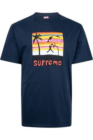 Supreme Dunk-print T-shirt