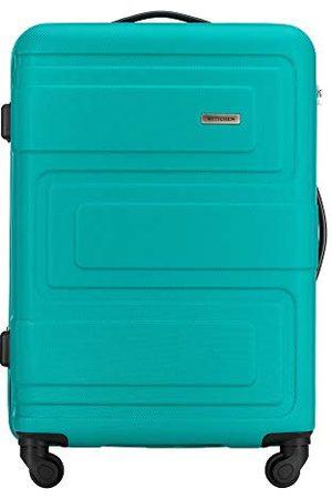 Wittchen Sacs de voyage - Valise Moyenne Robuste avec Valise Chariot ABS Rigide avec Serrure à Combinaison à 4 Roues Turquoise