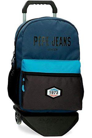 Pepe Jeans Fille Sacs à dos - Skyler Sac à dos scolaire avec chariot 32 x 44 x 16 cm Polyester 20,46 L