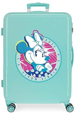 Disney Fille Combinaisons - Mickey That Easy Valise moyenne verte 48 x 68 x 26 cm rigide ABS fermeture à combinaison latérale 70 L 2,66 kg 4 roues doubles