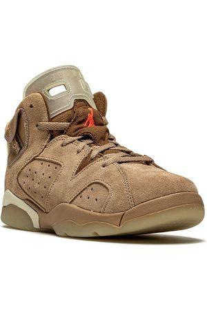 Jordan Kids X Travis Scott baskets Air Jordan 6 Retro 'British Khaki