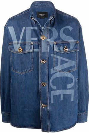 VERSACE Homme Vestes en jean - Veste en jean à détail Greca