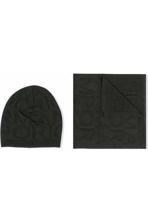 Emporio Armani Garçon Ensembles - Ensemble bonnet et écharpe en maille