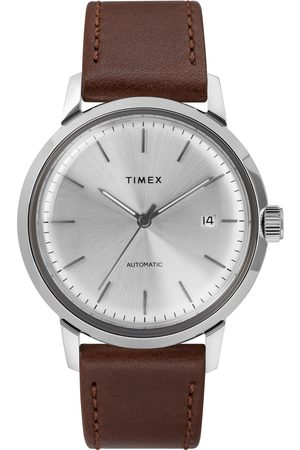 Timex Montre - Marlin Automatic TW2T22700 Brown/Silver