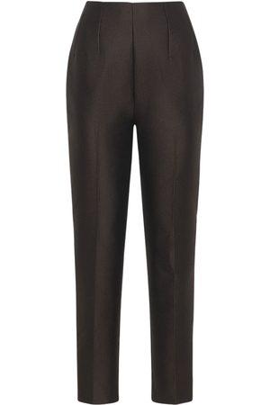 EMILIA WICKSTEAD Femme Pantalons coupe droite - Pantalon Droit Plissé
