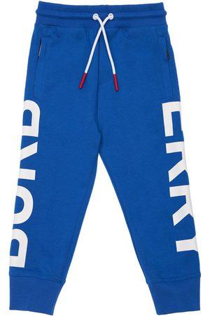 Burberry Pantalon De Survêtement En Coton À Imprimé Logo