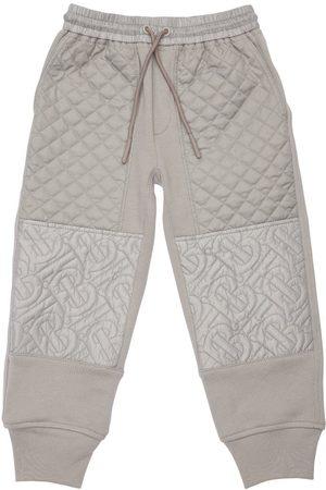 Burberry Pantalon De Jogging En Coton Matelassé À Logo