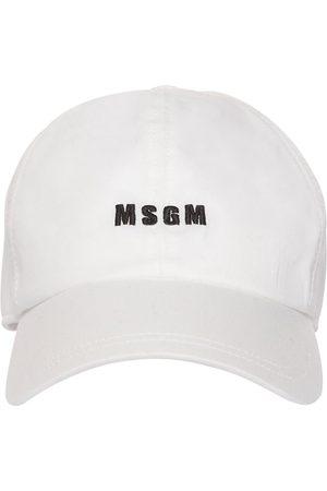 Msgm Homme Casquettes - Casquette En Toile De Coton À Logo Brodé