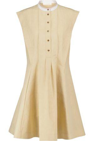 Chloé Robe en lin et coton