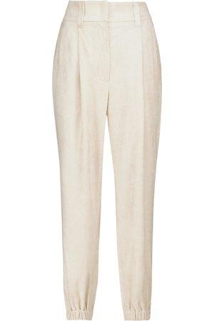 Brunello Cucinelli Pantalon carotte en velours côtelé