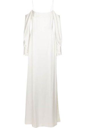 GALVAN Exclusivité Mytheresa – Robe de mariée Valencia en satin de soie