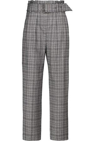 Brunello Cucinelli Pantalon droit en laine vierge à carreaux