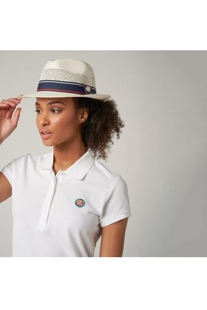 Roland Garros Chapeaux - Trilby en paille unisexe Roland-Garros - marine