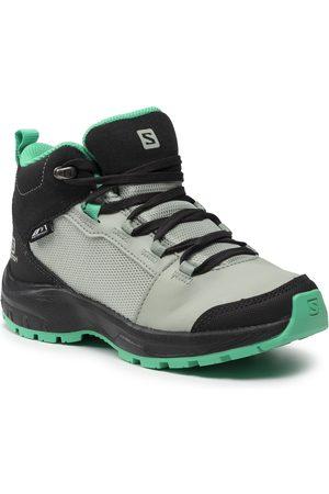 Salomon Chaussures de trekking - Outward Cswp J 412848 09 W0 Phantom/Aqua Gray/Mint Leaf