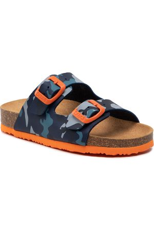 Scholl Mules / sandales de bain - Air Bag Kid F29642 1359 270 Blue/Orange