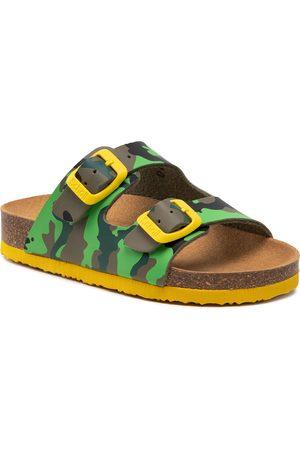 Scholl Mules / sandales de bain - Air Bag Kid F29642 1602 270 Green/Yellow