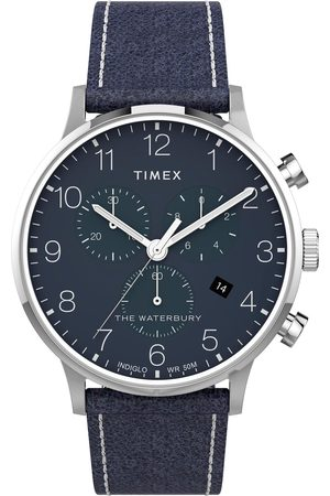 Timex Homme Montres - Montre - The Waterbury TW2T71300 Navy/Silver