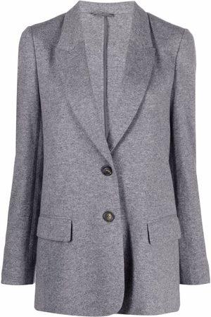 Brunello Cucinelli Single-breasted cashmere jacket