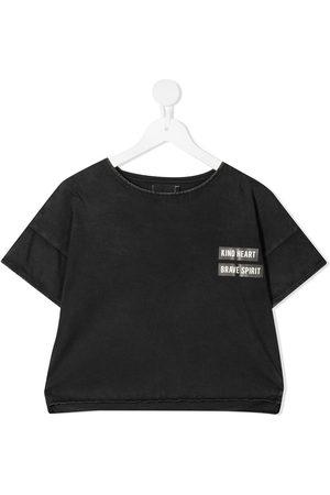 Le pandorine T-shirts - T-shirt crop à slogan imprimé