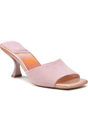 R. Polański Mules / sandales de bain R.POLAŃSKI - 1284 Różowy Zamsz