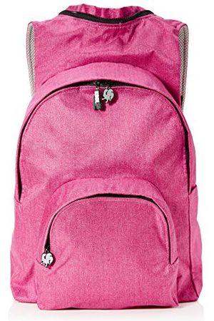 Morikukko Hooded Backpack Kool Pink Greymixte adulteSacs à dosRose (Kool Pink Grey)33x8x40 Centimeters (W x H x L)
