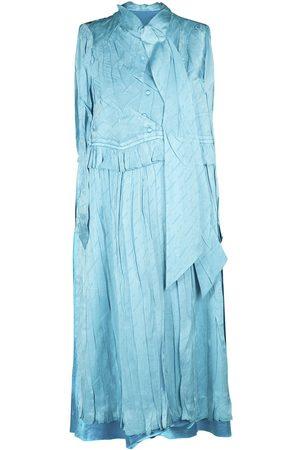 Balenciaga Robe Longue En Soie Jacquard Sans Manches