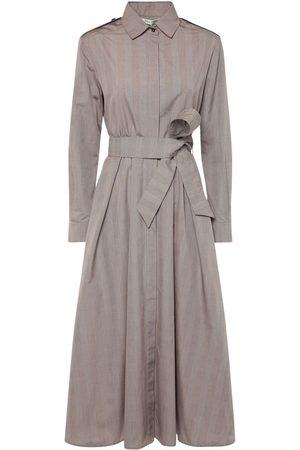 Max Mara Femme Robes - Robe En Coton Prince-de-galles Avec Ceinture Fido