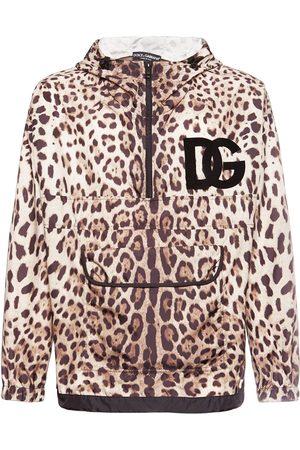 Dolce & Gabbana Homme Vestes - Veste En Nylon Imprimé À Capuche