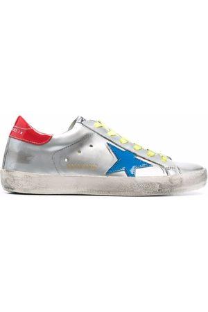 Golden Goose Femme Baskets - Super-star metallic-effect sneakers