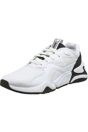 PUMA Nova Wn's, Baskets Femme, White Black, 42.5 EU