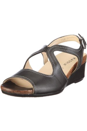 Hassia Siena Weite H 1-304021-0100, Sandales mode femmeNoirV.6, 36 2/3 EU