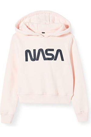 Mister Tee Mädchen Kids NASA Cropped Hoody Kapuzenpullover, Rosa (Pink 00185), 164 (Herstellergröße: 158/164)
