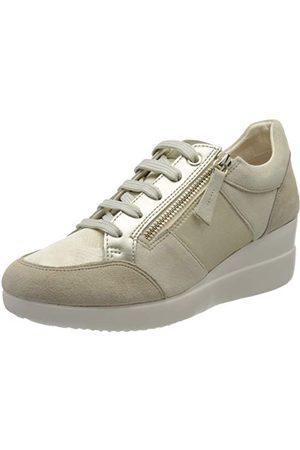 Geox D Stardust D, Sneakers Basses Femme, (Cream/Lt Gold C5k2l), 37 EU
