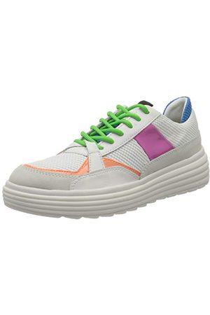Geox D Phaolae B, Sneakers Basses Femme, (White/Fuchsia C1441), 40 EU
