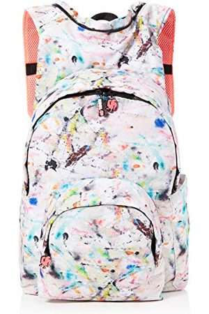 Morikukko Hooded Backpack Kool Grey Pollock Neon Pinkmixte adulteSacs à dosMulticolore (Grey Neon Pink)33x8x40 Centimeters (W x H x L)