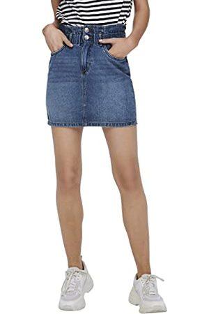 ONLY ONLMILLIE HW Mini Paper DNM Skirt GUA Jupe, Medium Blue Denim, XS Femme